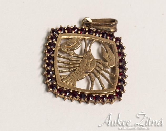 Pendant zodiac sign Cancer
